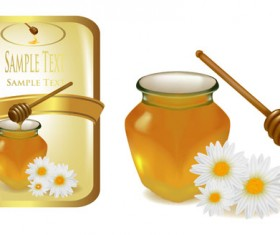 Elements of Honey and Bees vector set 03