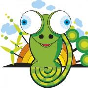 Link toSet of vivid cute chameleon vector 05