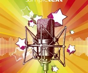 karaoke design elements vector 01