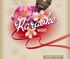 karaoke design elements vector 02