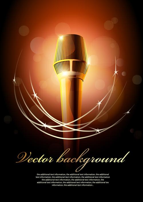 karaoke design elements vector 04 - Vector Music free download