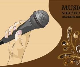 karaoke design elements vector 05