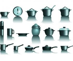 Different Kitchen utensils vector 01