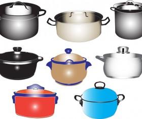 Different Kitchen utensils vector 02