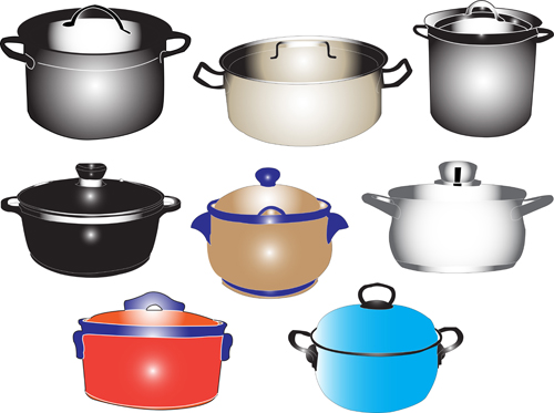 Different Kitchen utensils vector 02 - Vector Life free download