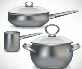 Different Kitchen utensils vector 03