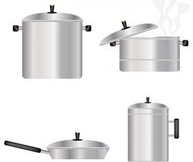 Different Kitchen utensils vector 04