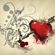Link toAngel and love elements vector background 01