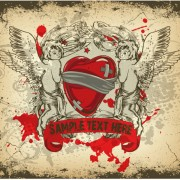 Link toAngel and love elements vector background 02