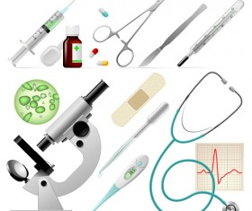 Medical elements vector collection 01
