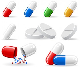 Medical elements vector collection 03