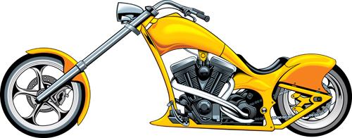 Various luxury Motorbike vector 03