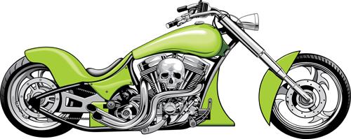 Various luxury Motorbike vector 05