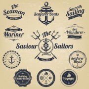 Link toSet of nautical labels vector 02