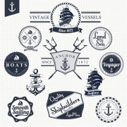 Link toSet of nautical labels vector 04