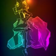 Link toStylish neon woman vector art 05