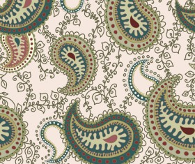 Set of paisley pattern Seamless vector 05