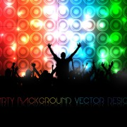 Link toSet of people at a party silhouettes vector 03