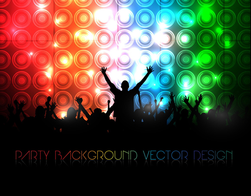 Party Silhouette Vector Free a Party Silhouettes Vector