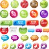 Best sale elements label Stickers 02