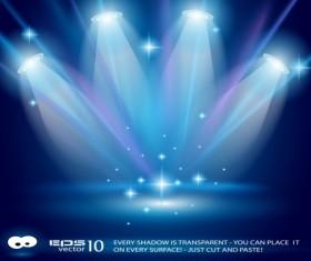 Set of Blue Spotlights background vector 01
