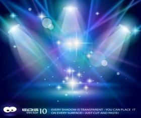 Set of Blue Spotlights background vector 02