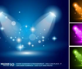 Set of Blue Spotlights background vector 03