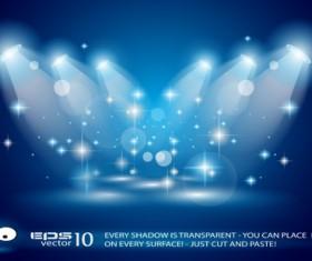 Set of Blue Spotlights background vector 04