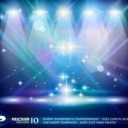 Link toSet of blue spotlights background vector 05