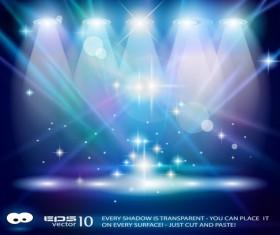 Set of Blue Spotlights background vector 05