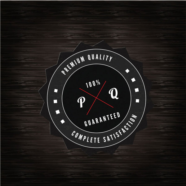 black label of Quality and guaranteed vector 01
