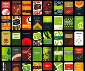 Set of 40 vertical business card templates vector 01