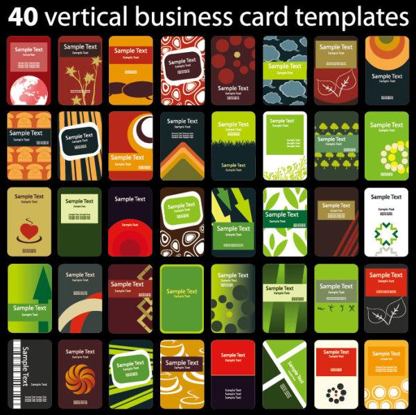 Set of 40 vertical business card templates vector 01 vector card set of 40 vertical business card templates vector 01 wajeb Choice Image