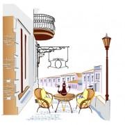 Link toSet of street cafe vector 04