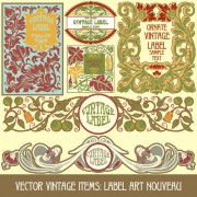 Link toSet of vintage items label art vector 02
