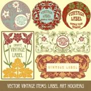 Link toSet of vintage items label art vector 05