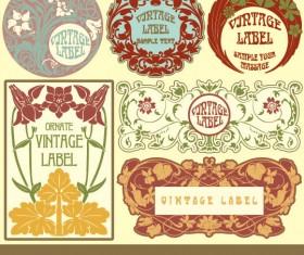 Set of vintage items label art vector 05