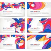 Link toColorful abstract cards vector graphics 01