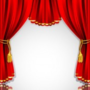 Link toRed curtain elements vector background 02