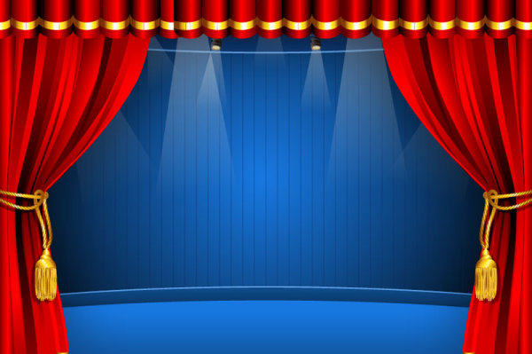 Red Curtain Elements Vector Background 04 Free Download