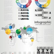 Link toSet of chart and infographics design elements vector 03