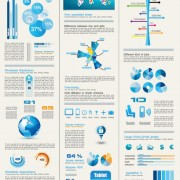 Link toSet of chart and infographics design elements vector 04