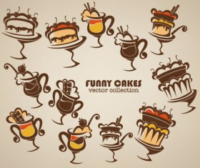 Hand drawn of food elements vector 02