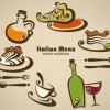 Hand drawn of food elements vector 03