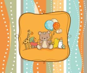 cute cartoon baby cards vector graphics 02