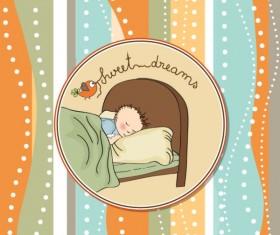 cute cartoon baby cards vector graphics 03