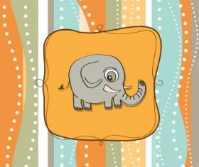 cute cartoon baby cards vector graphics 04