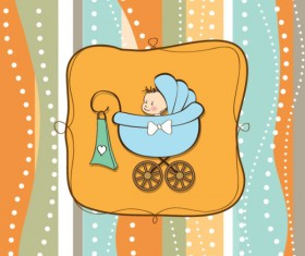 cute cartoon baby cards vector graphics 05