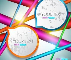 Grunge of Speech frames labels vector 02