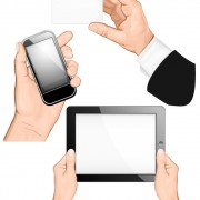 Various multi-touch gestures for tablets and smartphones vector 02